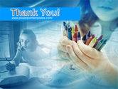 Crayons in Hands PowerPoint Template#20