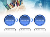 Crayons in Hands PowerPoint Template#5