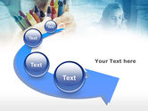 Crayons in Hands PowerPoint Template#6