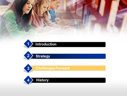 Studying in Library PowerPoint Template, Slide 3, 00525, Education & Training — PoweredTemplate.com