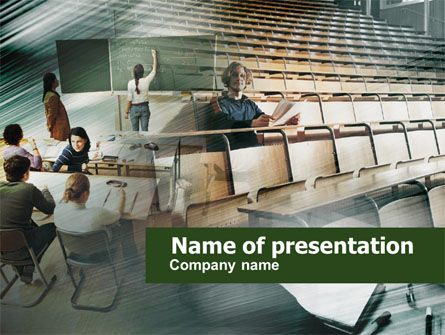 Education & Training: Students PowerPoint Template #00526
