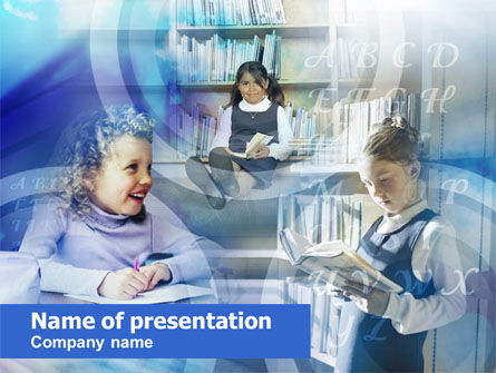 Education & Training: Modelo do PowerPoint - alunos pequenos da escola primária #00528