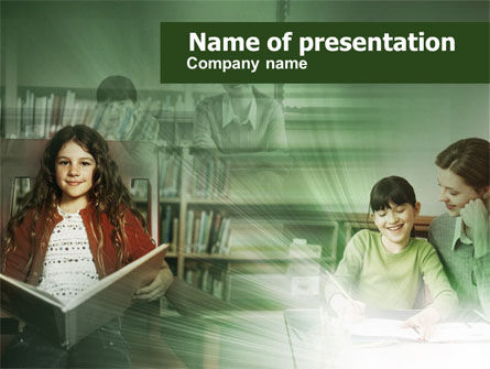 Little Pupils PowerPoint Template, 00529, Education & Training — PoweredTemplate.com