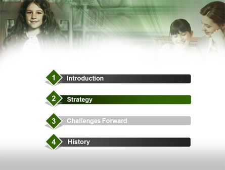 Little Pupils PowerPoint Template, Slide 3, 00529, Education & Training — PoweredTemplate.com