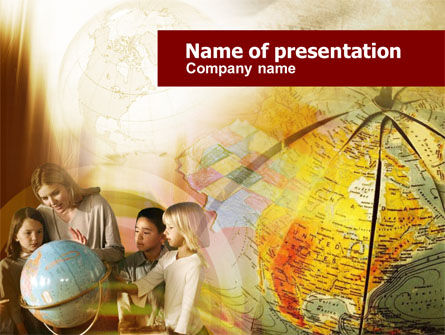 Geography Lesson PowerPoint Template, 00530, Education & Training — PoweredTemplate.com