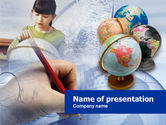 Education & Training: World Geography Lesson PowerPoint Template #00531