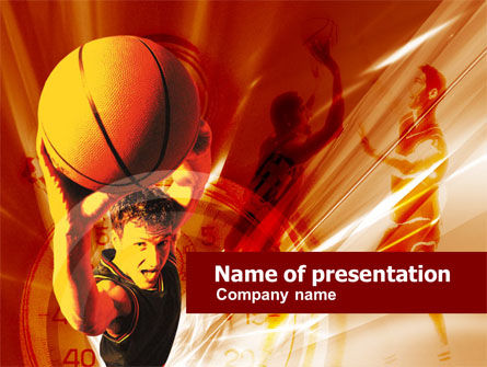 Sports: Basketball Drill PowerPoint Template #00533