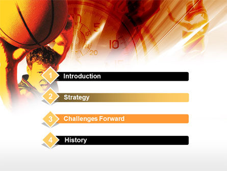 Basketball Drill PowerPoint Template Slide 3