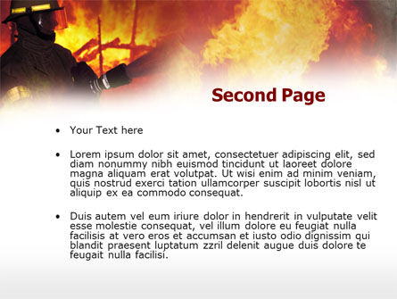 Fireman Free PowerPoint Template, Slide 2, 00543, Careers/Industry — PoweredTemplate.com