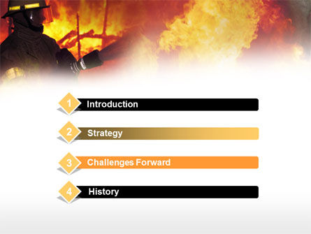 Fireman Free PowerPoint Template, Slide 3, 00543, Careers/Industry — PoweredTemplate.com