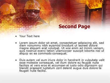 Firefighting Free PowerPoint Template, Slide 2, 00544, Careers/Industry — PoweredTemplate.com