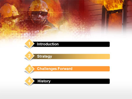 Firefighting Free PowerPoint Template, Slide 3, 00544, Careers/Industry — PoweredTemplate.com