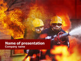 Careers/Industry: Free Firefighting PowerPoint Template #00544
