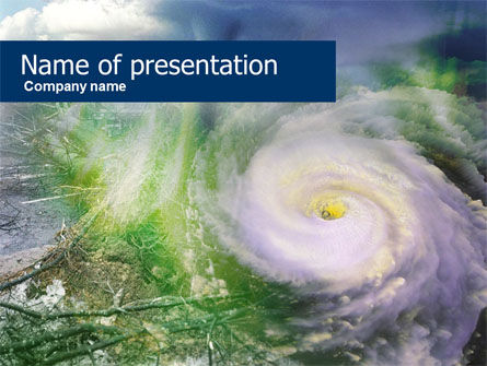 Satellite Picture Of Cyclone PowerPoint Template, 00545, Nature & Environment — PoweredTemplate.com
