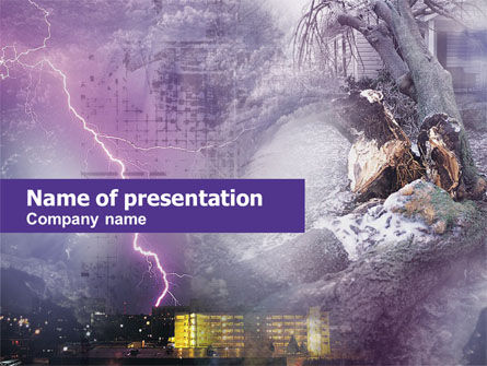 Nature & Environment: Natural Catastrophes PowerPoint Template #00546
