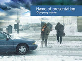 Nature & Environment: Winter Disaster PowerPoint Template #00547