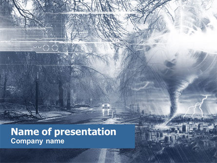 Hurricane PowerPoint Template, 00548, Nature & Environment — PoweredTemplate.com