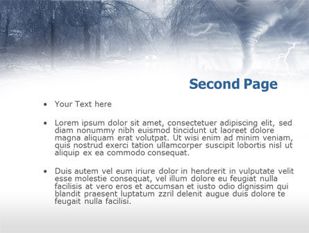 Hurricane PowerPoint Template Slide 2