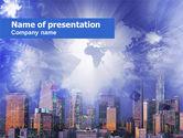 Global: Zivilisation von megalopolis PowerPoint Vorlage #00549
