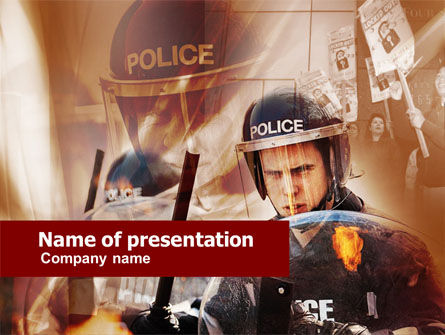 People: Police Forces PowerPoint Template #00550