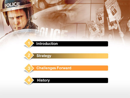 Police Forces PowerPoint Template, Slide 3, 00550, People — PoweredTemplate.com