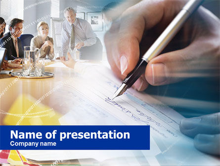 Contract Signing PowerPoint Template