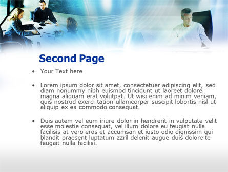 Business Agreement Discussion PowerPoint Template, Slide 2, 00552, Business — PoweredTemplate.com