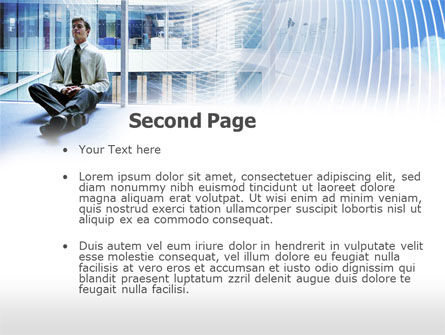 Business Success Worker PowerPoint Template, Slide 2, 00555, Business Concepts — PoweredTemplate.com