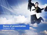 Business Success Worker PowerPoint Template#1