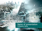 Nature & Environment: Urban Catastrophe PowerPoint Template #00556