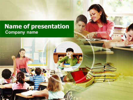 Primary School Teaching PowerPoint Template
