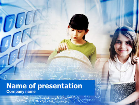 Education & Training: Primary School Pupils PowerPoint Template #00559