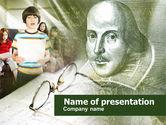 Education & Training: Modelo do PowerPoint - aulas de literatura #00560