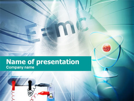 Education & Training: Physics Lessons PowerPoint Template #00561