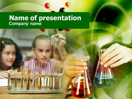 School Chemistry Experiments PowerPoint Template