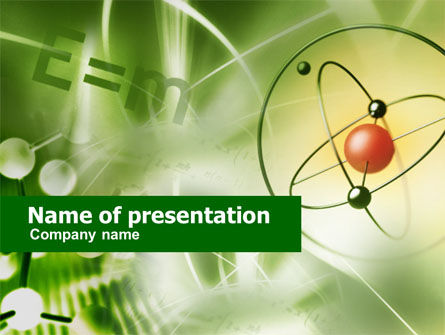 Basic Physics PowerPoint Template, 00564, Education & Training — PoweredTemplate.com