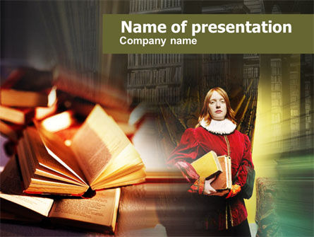 Education & Training: English Literature PowerPoint Template #00566