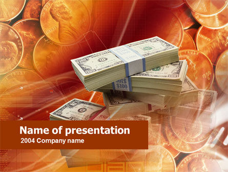 Financial/Accounting: Cash Money PowerPoint Template #00568