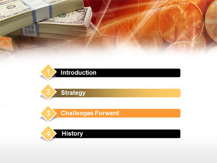 Cash Money PowerPoint Template, Slide 3, 00568, Financial/Accounting — PoweredTemplate.com
