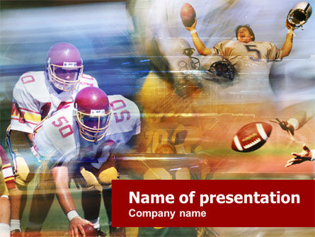 American Football Dribbling PowerPoint Template, 00570, Sports — PoweredTemplate.com