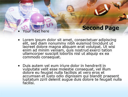 American Football Dribbling PowerPoint Template, Slide 2, 00570, Sports — PoweredTemplate.com