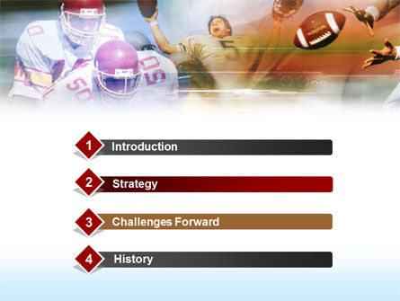 American Football Dribbling PowerPoint Template, Slide 3, 00570, Sports — PoweredTemplate.com