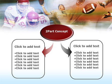 American Football Dribbling PowerPoint Template, Slide 4, 00570, Sports — PoweredTemplate.com