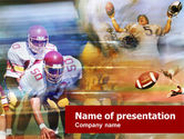 Sports: American Football Dribbling PowerPoint Template #00570