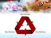 American Football Dribbling PowerPoint Template#10
