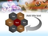 American Football Dribbling PowerPoint Template#11