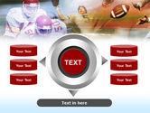 American Football Dribbling PowerPoint Template#12