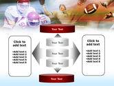 American Football Dribbling PowerPoint Template#13