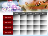 American Football Dribbling PowerPoint Template#15