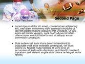 American Football Dribbling PowerPoint Template#2